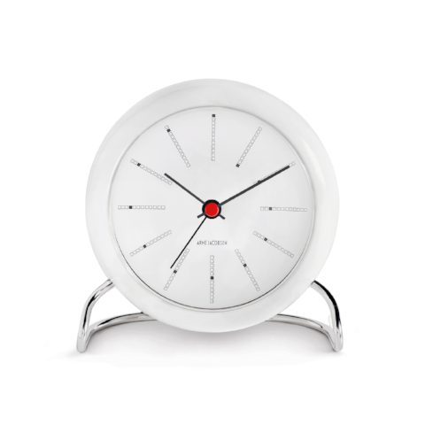 Arne Jacobsen Bankers Table Alarm Clock, 4.3""