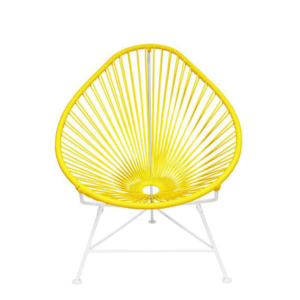 Acapulco Chair, Yellow Cord/White Base