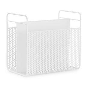 Analog Magazine Rack, White
