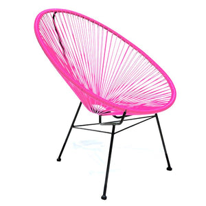 Condesa Chair, Pink Cord / Black Frame