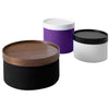 DRUMS, pouf high 45 x 40 cm, anthracite felt 610