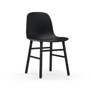Form Chair Black, Black Lacquered Oak Legs
