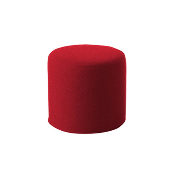 DRUMS, pouf high 45 x 40 cm, red felt 588