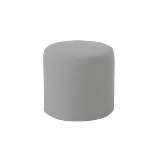 DRUMS, pouf high 45 x 40 cm, Light Grey Felt 620