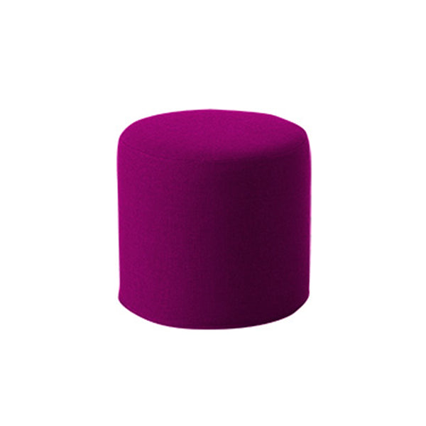 DRUMS, pouf high 45 x 40 cm, violet felt 629
