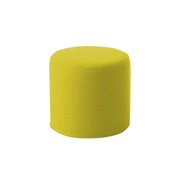 DRUMS, pouf high 45 x 40 cm, yellow melange felt 847