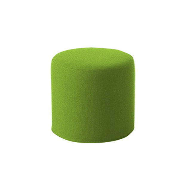 DRUMS, pouf high 45 x 40 cm, green melange felt 848