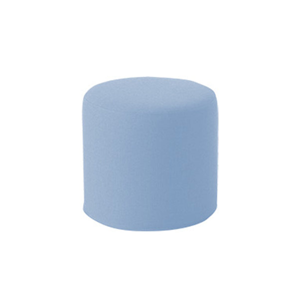 DRUMS, pouf high 45 x 40 cm, light blue felt 858
