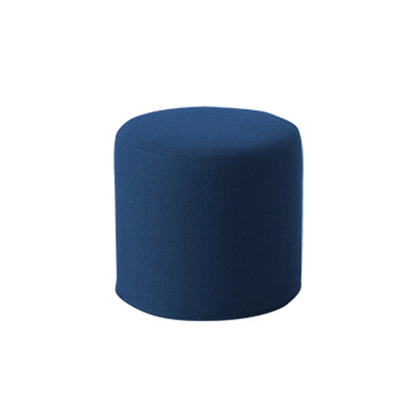 DRUMS, pouf high 45 x 40 cm, navy blue felt 859