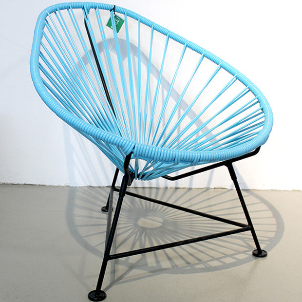 Baby Acapulco Chair, Blue Cord/ Black Frame