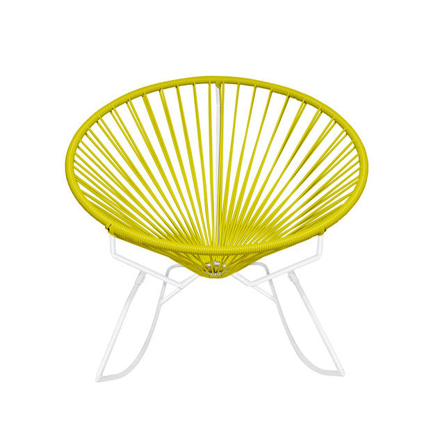 Condesa Rocking Chair, Yellow Cord / White Base