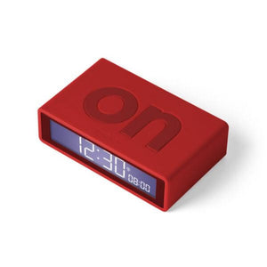 Flip Travel Clock, Red