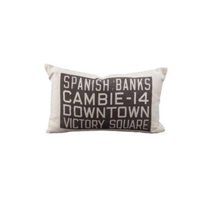 MOV Bus Scroll Pillow, Spanish Banks