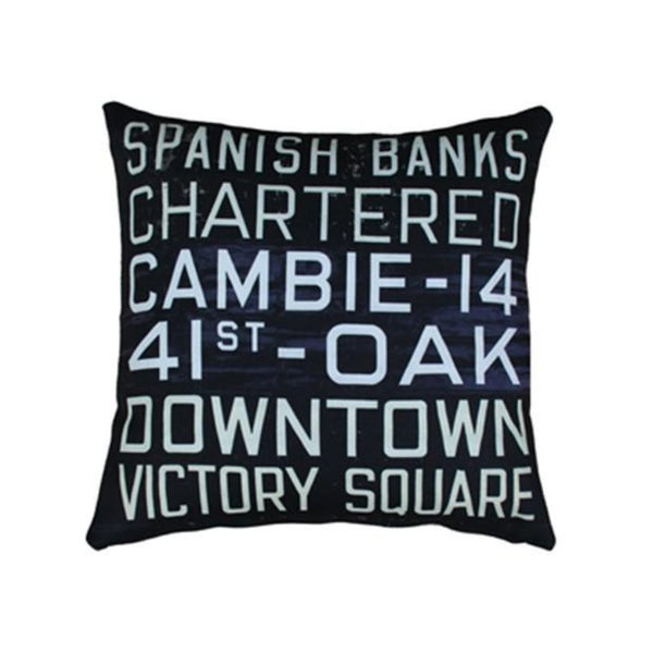 MOV Bus Scroll Pillow, Indoor/Outdoor, 20 x 20