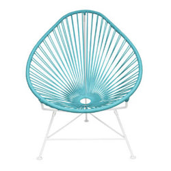 Acapulco Chair, Light Blue Cord/White Frame