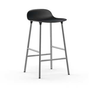 Form Stool 65 cm Black/Chrome