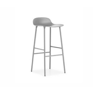 Form Stool 65 cm Grey/Grey metal base