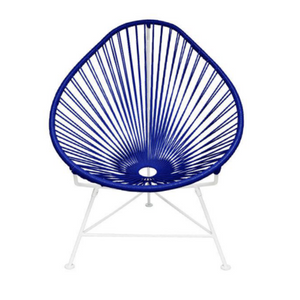 Acapulco Chair, Deep Blue/ White Frame