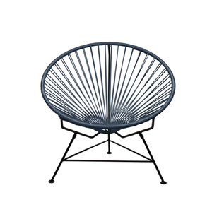 Condesa Chair, Grey Cord/Black Base