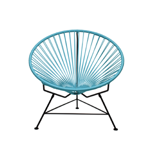 Condesa Chair, Light Blue Cord/Black Frame
