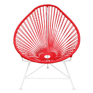 Acapulco Chair, Red Cord/ White Frame