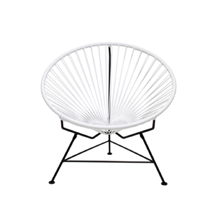 Condesa Chair, White Cord/Black Frame