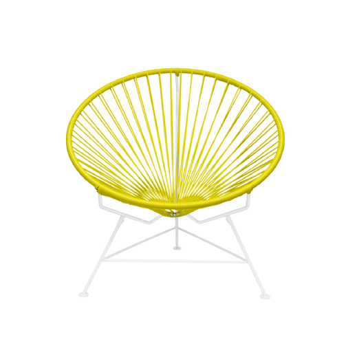 Condesa Chair, Yellow Cord/ White Frame