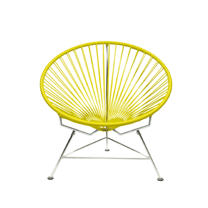 Condesa Chair, Yellow Cord/Chrome Base