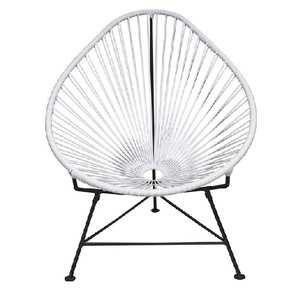 Acapulco Chair, White Cord/Black Frame
