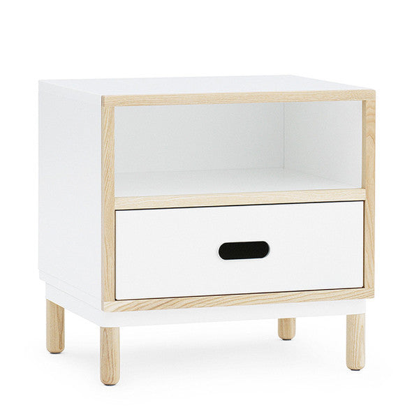 Kabino Bedside Table, White