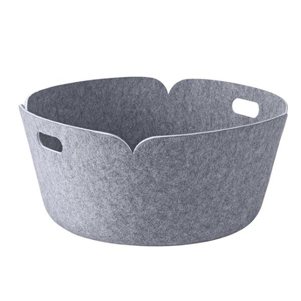 Restore Round Basket, Grey
