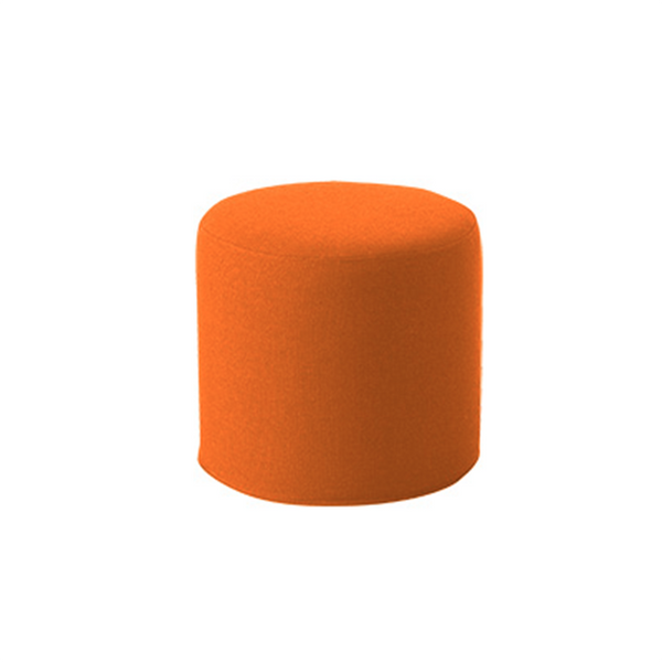 DRUMS, pouf high 45 x 40 cm, Orange Valencia 265