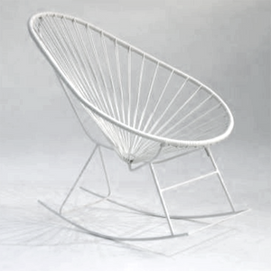 Acapulco Rocking Chair, White Cord/ White Base