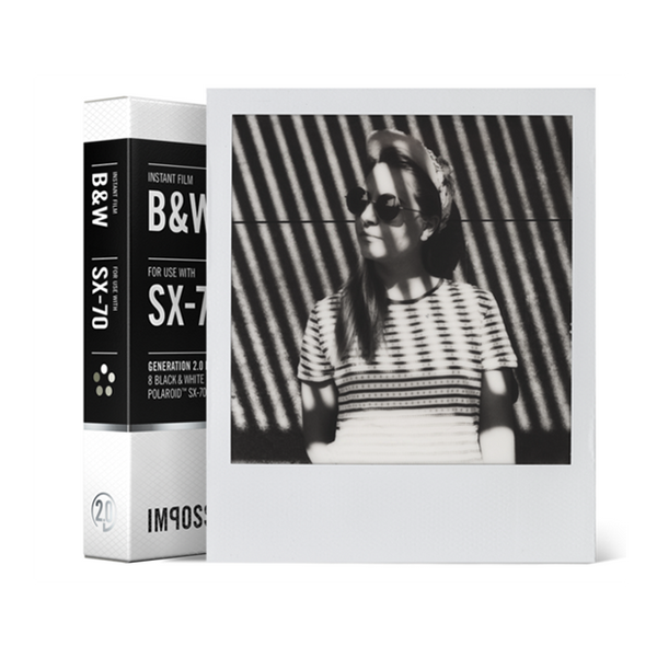 Instant B+W Film for Polaroid SX-70, Single Pack