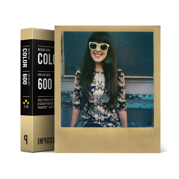 Instant Color Film for Polaroid 600, Gold Frame