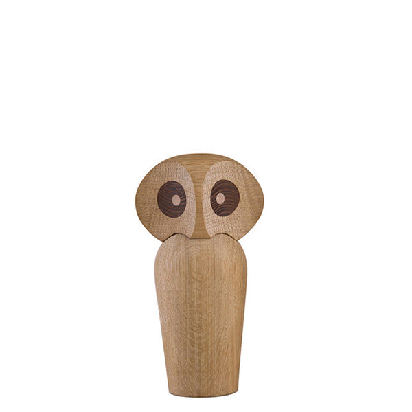 ArchitectMade Wood Owl, Small, Natural