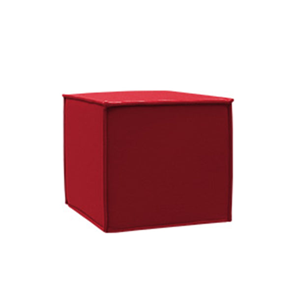SPACE pouf red felt 588