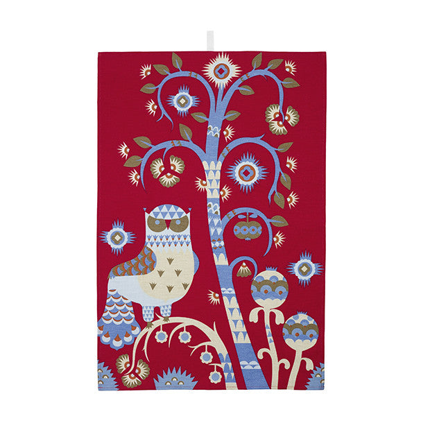 Taika Tea Towel, Red