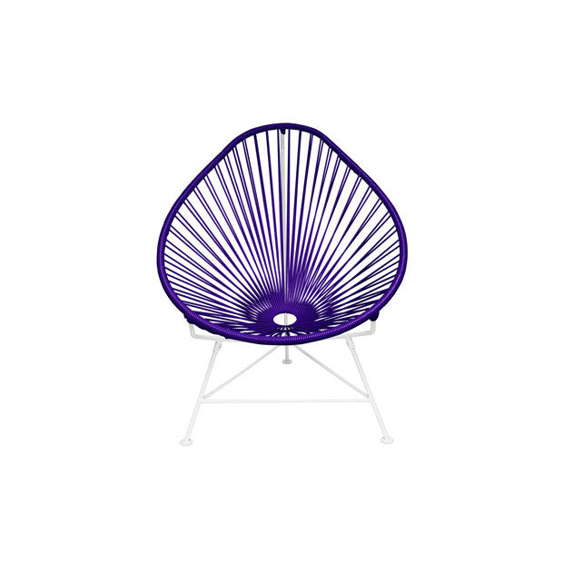 Baby Acapulco Chair, Purple Cord/White Frame