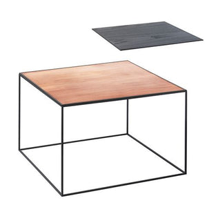 Twin 49 Table, Cool Grey, Black/Copper