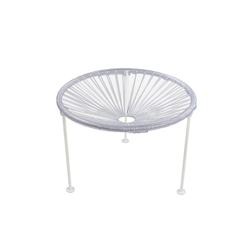 Zica Table, White on White Frame