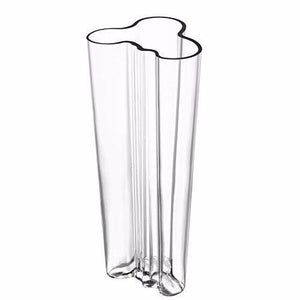 "Aalto Vase 10.25"" Clear"