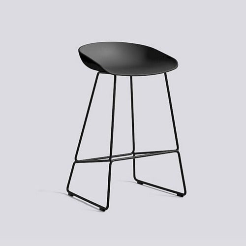 AAS38 About A Stool White Seat, White Metal Base 75cm