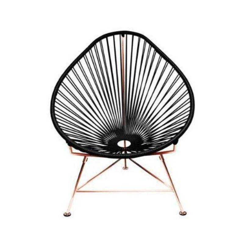 Acapulco Chair, Black Cord/Copper Base