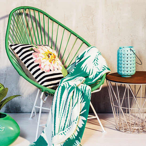 Gentil Acapulco Chair, Cactus Green Cord/White Base