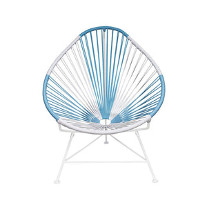 Acapulco Chair, Argentina Blue+White/White Frame