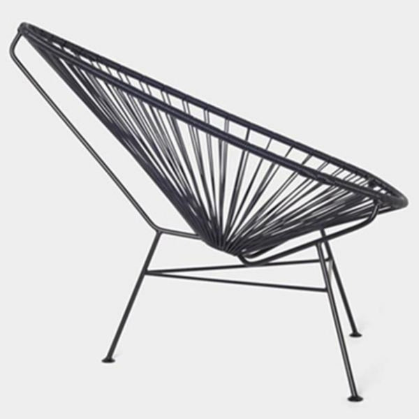Acapulco Chair, Grey Cord/ Black Frame