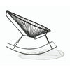 Acapulco Rocking Chair, Black Cord/Black Frame