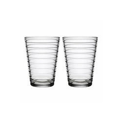 Aino Aalto Tumbler, 11 oz, Clear, set of 2.