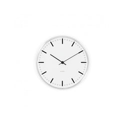 Arne Jacobsen City Hall Wall Clock Black/White, 21cm